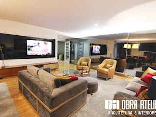 Projeto decoração de interiores - Parque das Nações: Salas de estar  por OBRA ATELIER - Arquitetura & Interiores