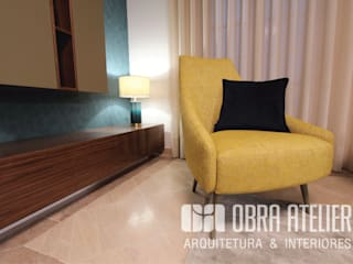 OBRA ATELIER - Arquitetura & Interiores Modern living room Yellow