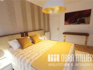 Projeto reformulação de interiores em Alcabideche: Quartos  por OBRA ATELIER - Arquitetura & Interiores