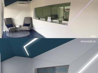 Hall de entrada: Escritórios e Espaços de trabalho  por OBRA ATELIER - Arquitetura & Interiores