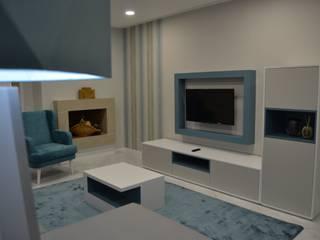 Apartamento de férias com frescura do mar Salas de estar modernas por Victor Bertier Design Moderno