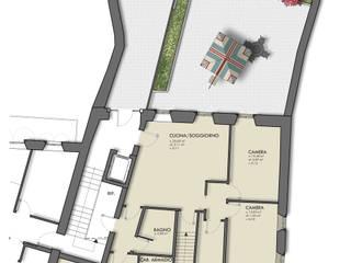Piano terra: Case in stile in stile Classico di arlan.ch atelier d'architettura