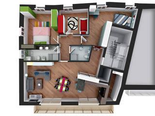 Attico: Ingresso & Corridoio in stile  di arlan.ch atelier d'architettura