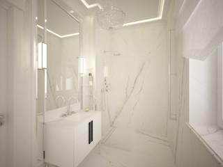 現代浴室設計點子、靈感&圖片 根據 ANNA ORLIKOWSKA ARCHITEKTURA WNĘTRZ 現代風