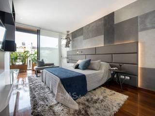 DORMITORIO PRINCIPAL: Dormitorios de estilo  por DMS Arquitectas, Moderno