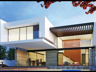 Fachada Trasera: Casas de estilo  por Geometrica Arquitectura