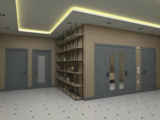 Modern corridor, hallway & stairs by BEKİR YİĞİT İÇ MİMARLIK Modern