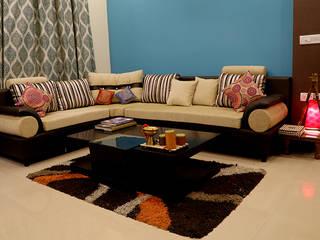 3 BHK Apartment Of Dr Sagar Bangalore Modern living room by Cee Bee Design Studio Modern