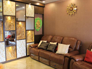 4 BHK Apartment of Mr Sachin Tulsyan Kolkata Modern living room by Cee Bee Design Studio Modern