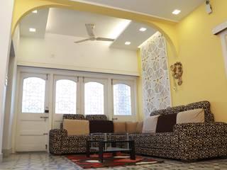 Villa Renovation of Mr Tanmay Banerjee Kolkata Modern living room by Cee Bee Design Studio Modern