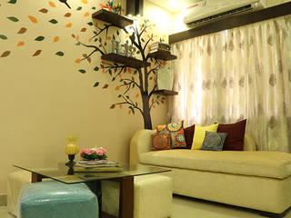 Living Room of Mr Jahan Biswas Kolkata Modern living room by Cee Bee Design Studio Modern