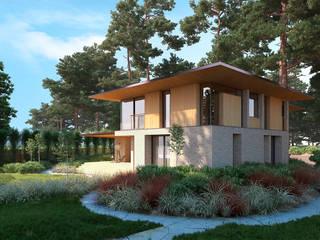 Дом в Ейске: Загородные дома в . Автор – Архитектурное бюро, Минимализм