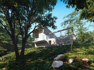 Дом в Сочи: Дома с террасами в . Автор – Архитектурное бюро, Минимализм