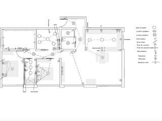 Le plan électrique du nouvel appartement:  de style  par INDEKOR
