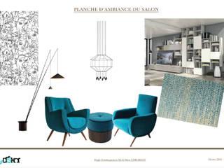 Planche d'ambiance du salon:  de style  par INDEKOR