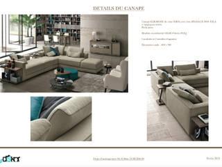 Un Grand Canapé d'angle:  de style  par INDEKOR