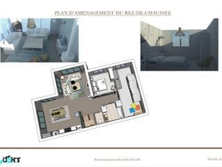 Plan d'aménagement du rez-de-chaussée:  de style  par INDEKOR