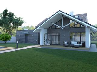 Жилой дом с баней от Архитектурное бюро Пасынков и Партнеры