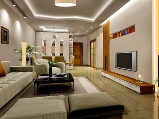 Living room:   by Slate Dezine