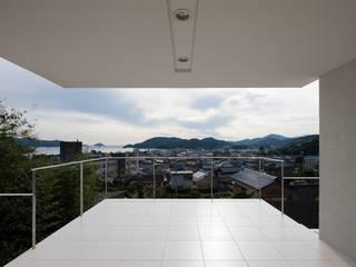 テラスからの眺望: (株)建築デザイン研究所が手掛けたテラス・ベランダです。