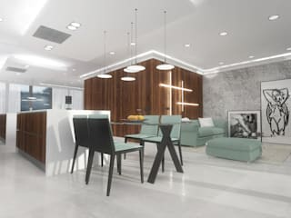Apartament Nordic Heaven od Autorska Pracownia Architektury Trojanowscy