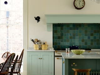 deVOL Kitchens Classic style kitchen Solid Wood Blue