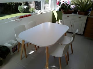 L´ ATELIERA 餐廳桌子 木頭 White