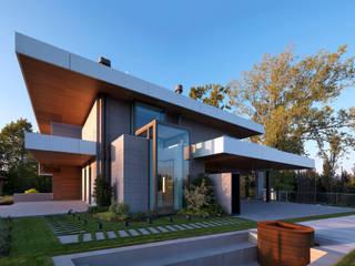 Villa Unifamiliare - Campagna di Udine -: Casa unifamiliare in stile  di      Massimo Viti Architetto                                   studio Architectural Make-Up+