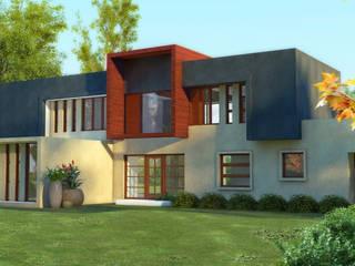 Constructora Rukalihuen Mediterranean style house Bricks Beige