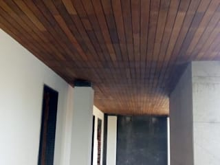 IPE Cladding Country style corridor, hallway& stairs by Opulo India Country