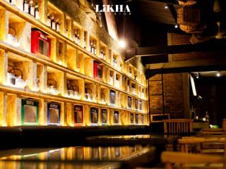 Gastronomía de estilo rústico de Likha Interior Rústico Contrachapado