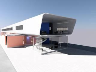 Bürogebäude Calvatis Calgonit Industrial Moderne Bürogebäude von Peter Stasek Architects - Corporate Architecture Modern