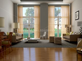 3D Interior Design Living Room: modern Living room by ThePro3DStudio
