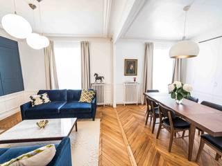 Rénovation d'un appartement Haussmannien Salle à manger moderne par Clo - Architecture & Design Moderne