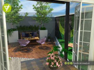 TERRAZA LOS RIOS Jardines modernos de Vertical Creativo Arquitectos Moderno
