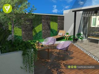 TERRAZA LOS RIOS: Jardines de estilo  por Vertical Creativo Arquitectos