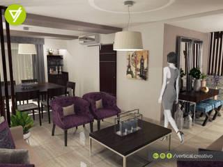 REMODELACIÓN CASA LOS RIOS Salones modernos de Vertical Creativo Arquitectos Moderno