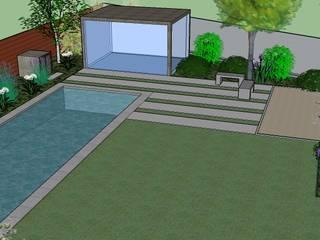 PROYECTO DE DISEÑO PAISAJISTA JARDÍN ZÚÑIGA SANDOVAL - COLINA Jardines de estilo moderno de Aliwen Paisajismo Moderno