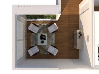Lounge : Jardins de inverno  por Thaiad Pinna -Studio de Arquitetura e Interiores