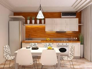 дизайн-проект квартиры в экостиле, кухня: Кухни в . Автор – STUDIO DESIGN КРАСНЫЙ НОСОРОГ