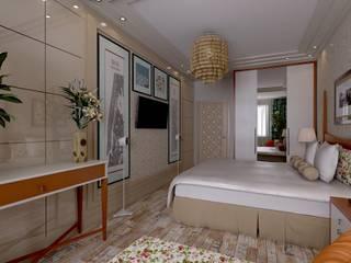 Дизайн-проект квартиры в экостиле, спальня: Спальни в . Автор – STUDIO DESIGN КРАСНЫЙ НОСОРОГ