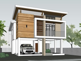 Two Storey 5 Bedroom Residential: modern Houses by ezpaze design+build
