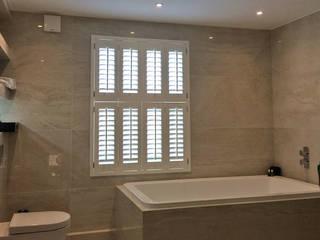 A Traditional Look For a Modern Bathroom in Surbiton Plantation Shutters Ltd Kamar Mandi Klasik Kayu White