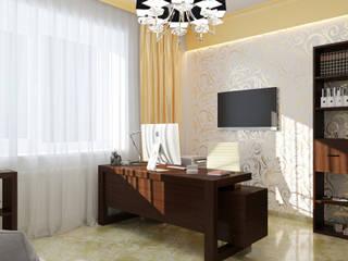 Classic style study/office by STUDIO DESIGN КРАСНЫЙ НОСОРОГ Classic