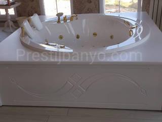 Yatak Odasında Jakuzi Yapımı Modern Yatak Odası Prestij Banyo Modern