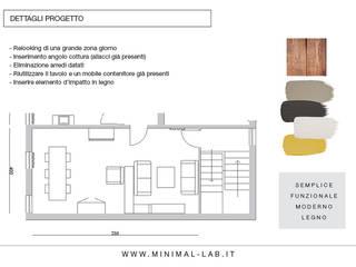 Relooking Zona giorno M&M Soggiorno moderno di MINIMAL | Laboratorio d'Interni Moderno