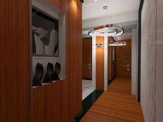 Дизайн-проект квартиры в стиле шикарной яхты 95 кв.м., прихожая: Коридор и прихожая в . Автор – STUDIO DESIGN КРАСНЫЙ НОСОРОГ