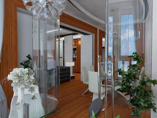 Дизайн-проект квартиры в стиле шикарной яхты 95 кв.м., лоджия, стеклянная перегородка: Зимние сады в . Автор – STUDIO DESIGN КРАСНЫЙ НОСОРОГ