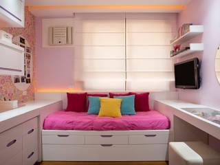 غرفة نوم بنات تنفيذ Patrícia Netto Arquitetura & Design