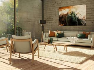 Projeto 3D: Salas de estar escandinavas por BORAGUI - Design Studio